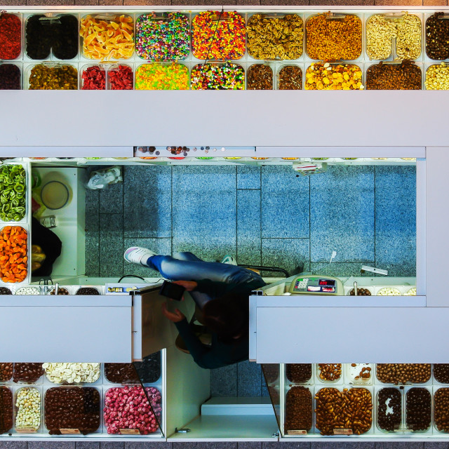 """Candy kiosk 1"" stock image"