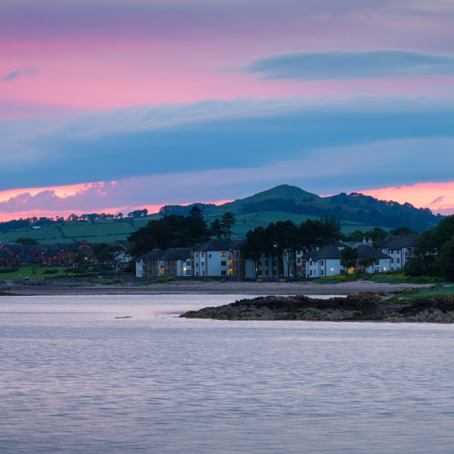 """Largs Gloaming Panorama"" stock image"