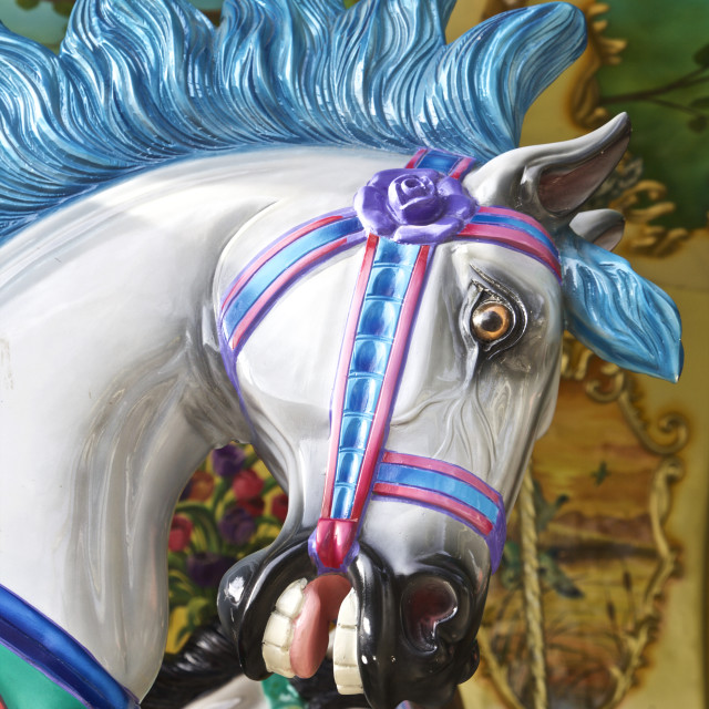 """Carousel horse ride"" stock image"