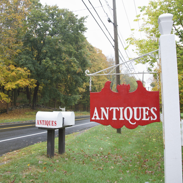 """""""Antique sign"""" stock image"""