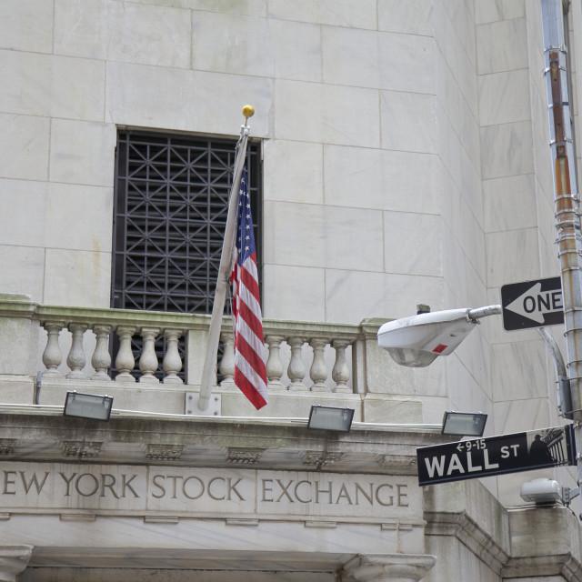 """New York Stock Exchange"" stock image"