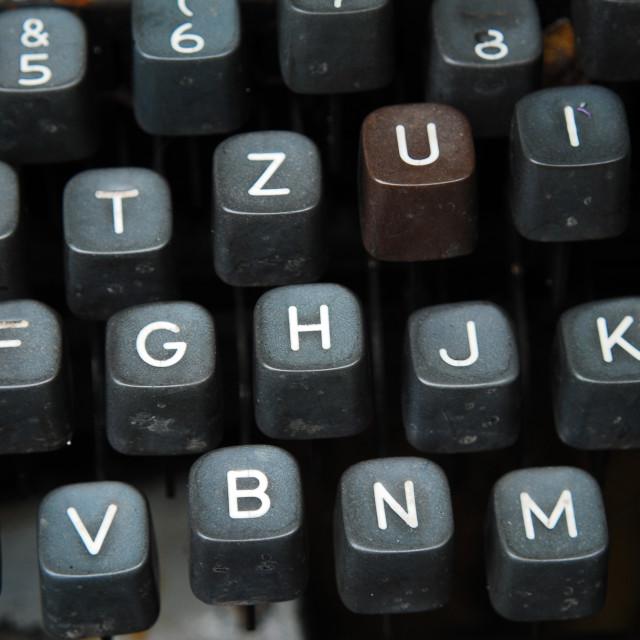 """""""vintage typewriter"""" stock image"""