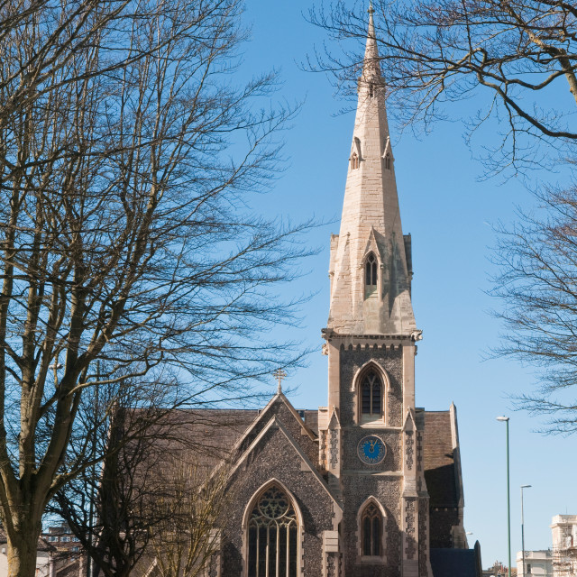 """St John the Baptist Church"" stock image"