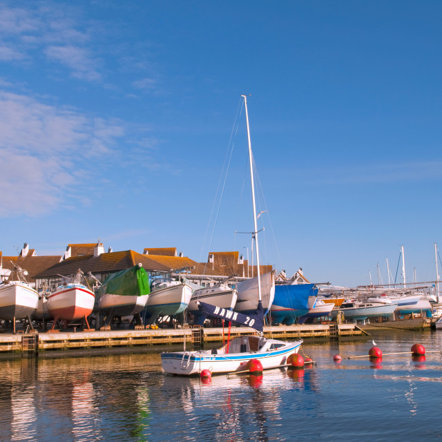 """""""Christchurch Harbour"""" stock image"""