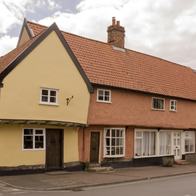 """House, High Street, Ixworth"" stock image"
