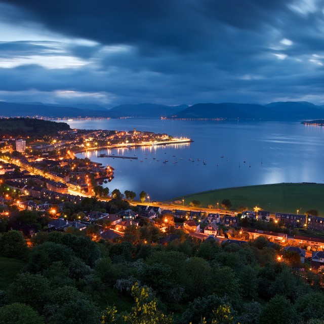 """""""Lyle Hill, Gourock"""" stock image"""