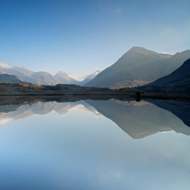 """Glen Etive in spring"" stock image"
