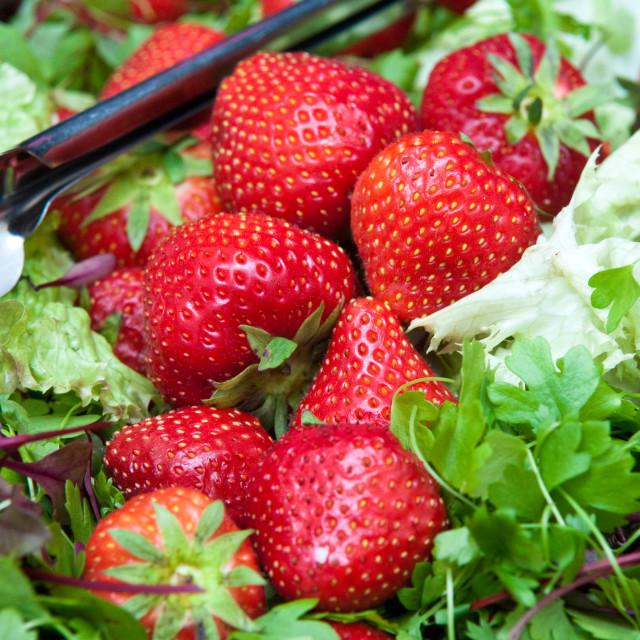 """Strawberry Salad"" stock image"