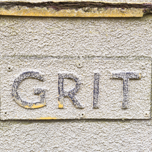 """""""Grit sign"""" stock image"""