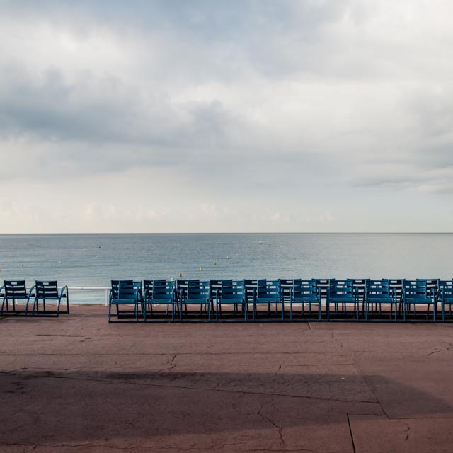 """""""Empty sea promenade"""" stock image"""