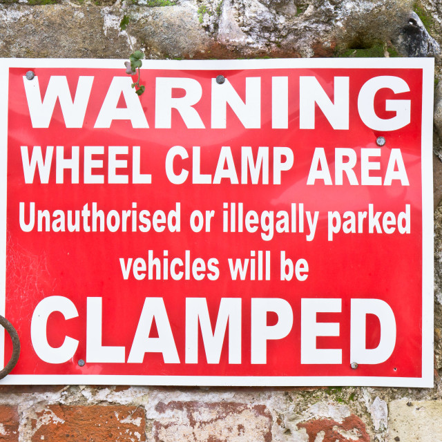 """""""Clamping sign"""" stock image"""