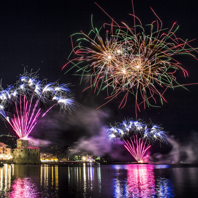 """Fireworks in Rapallo"" stock image"