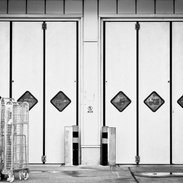 """Warehouse doors"" stock image"