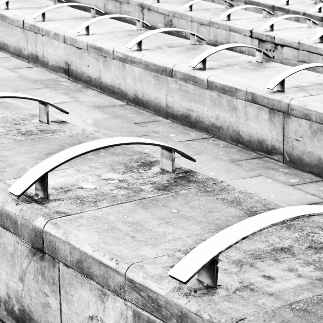 """Concrete seating"" stock image"