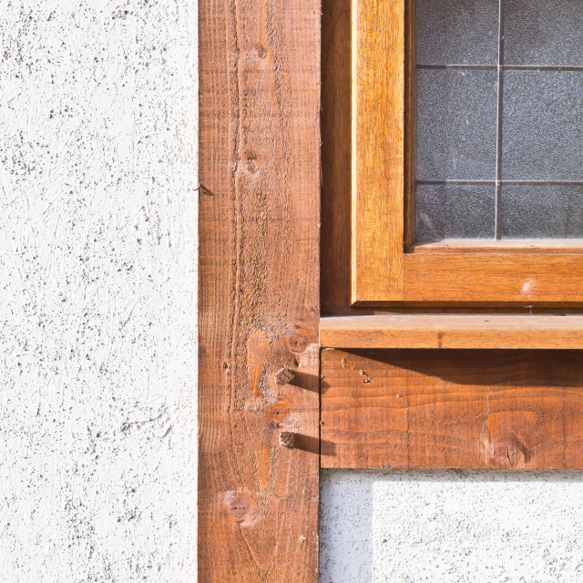 """Wooden window frame"" stock image"