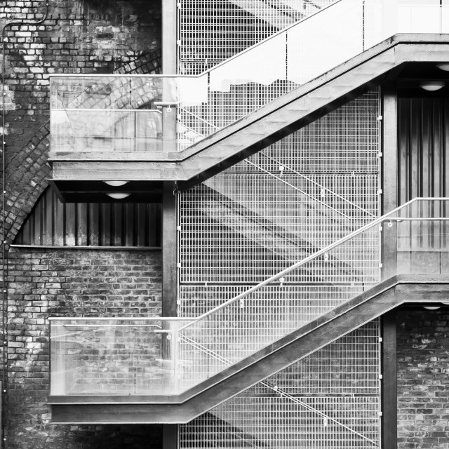 """Exterior stairs"" stock image"