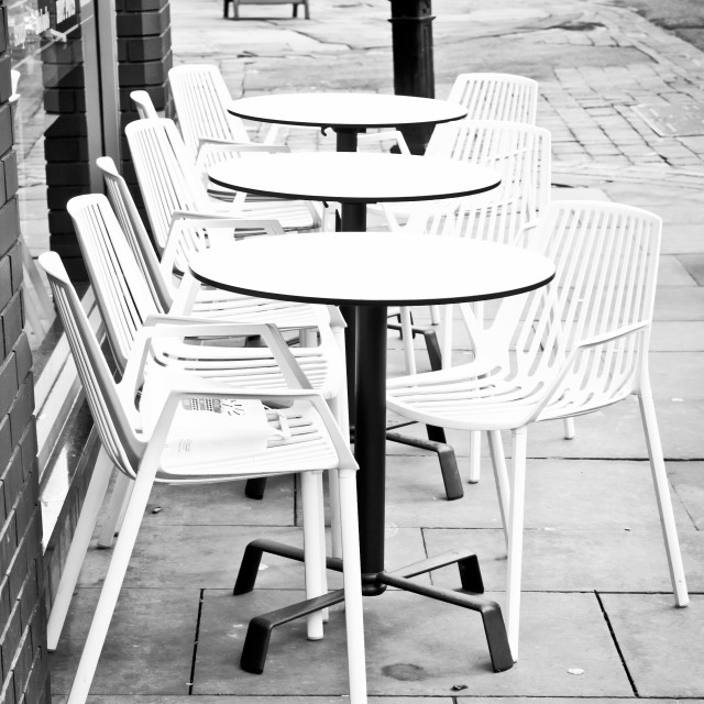 """Outside cafe"" stock image"