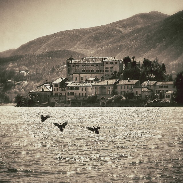 """Isola San Giulio - Orta"" stock image"