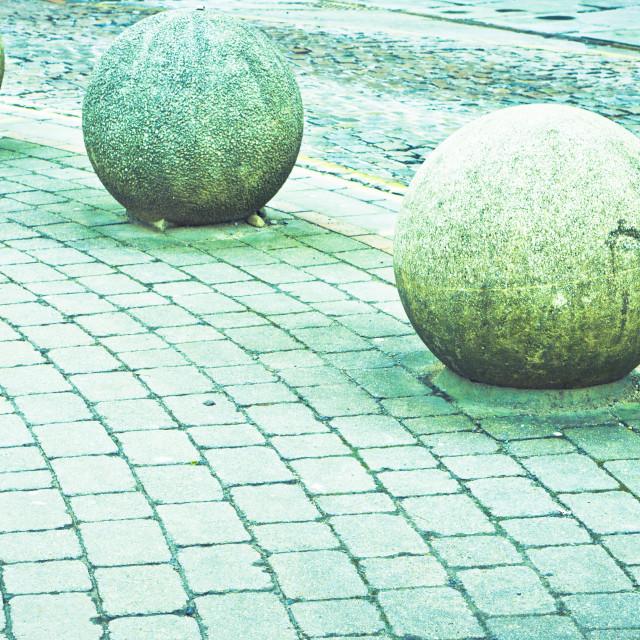 """Stone balls"" stock image"