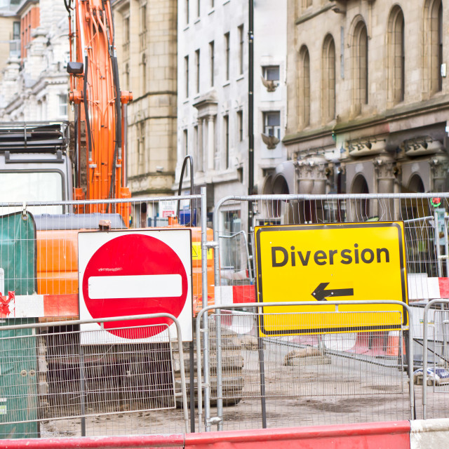 """""""Road works"""" stock image"""