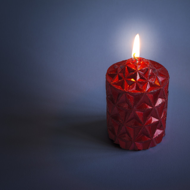 """""""Red candle"""" stock image"""