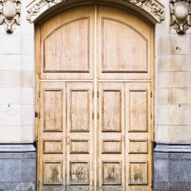 """""""Wooden door"""" stock image"""