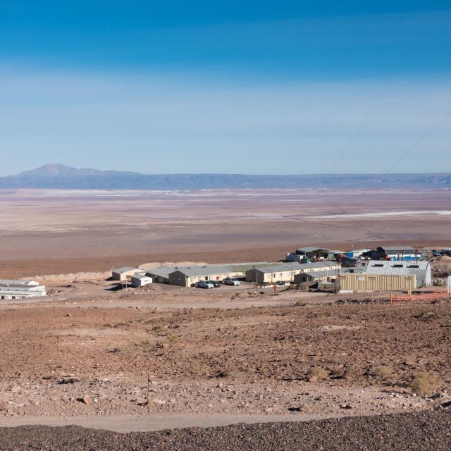 """ALMA Observatory, Atacama desert, Chile"" stock image"