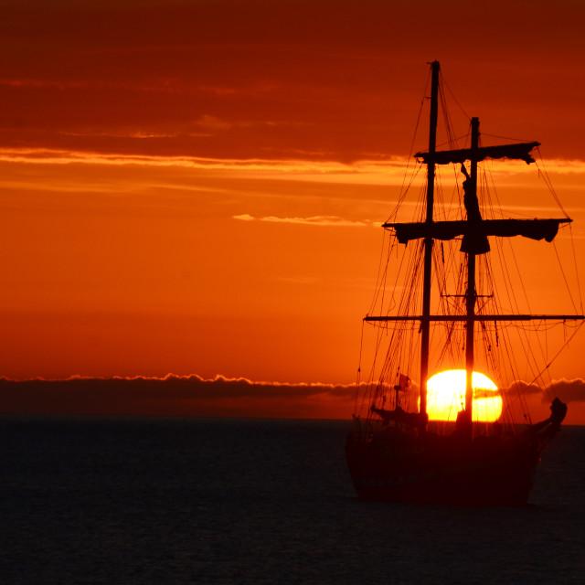 """""""Sailing on Sunshine"""" stock image"""