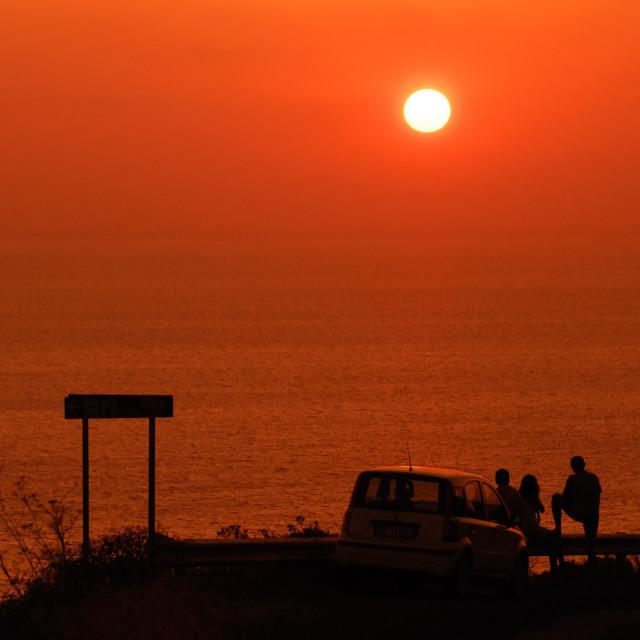 """Sunset at Pantelleria, Italy"" stock image"