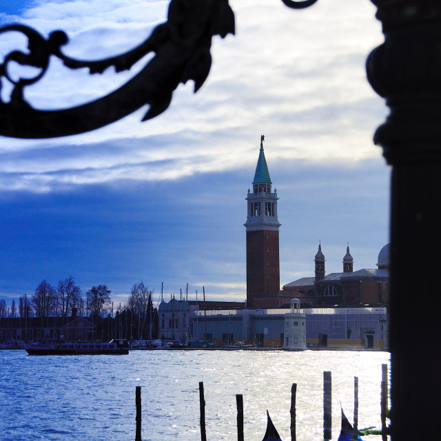 """Venice at sunset"" stock image"