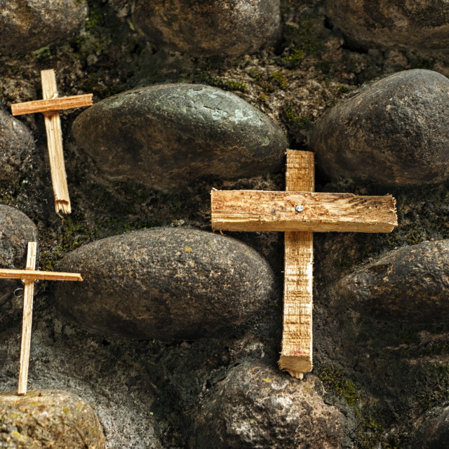 """Three Crosses"" stock image"