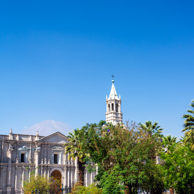 """""""Arequipa Cathedral View"""" stock image"""