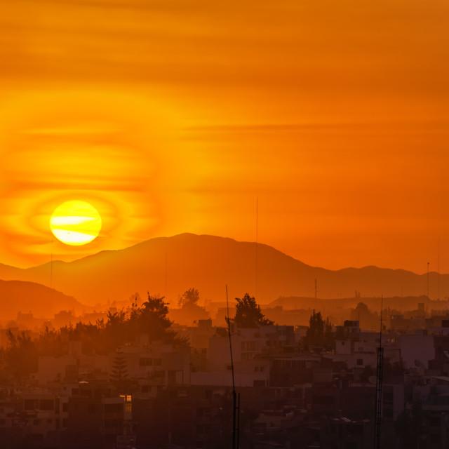 """Arequipa, Peru Sunset"" stock image"