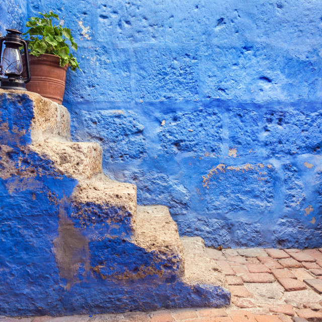 """""""Historic Blue Stairs"""" stock image"""