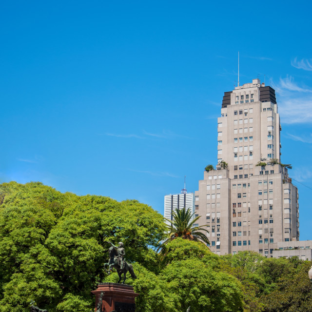 """""""Plaza San Martin in Buenos Aires"""" stock image"""