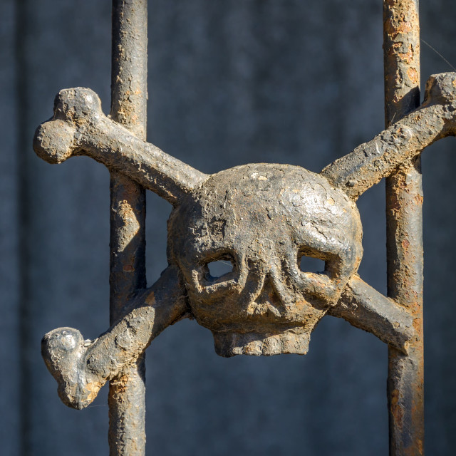 """Skull and Crossbones"" stock image"