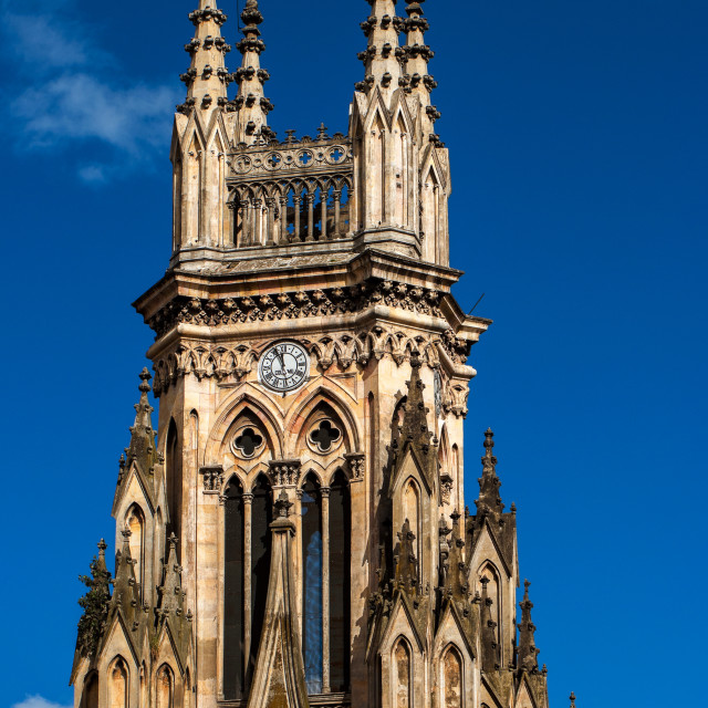 """""""Tower of Lourdes Church"""" stock image"""