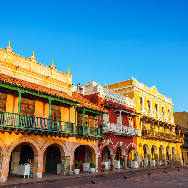 """Historic Colonial Facades"" stock image"