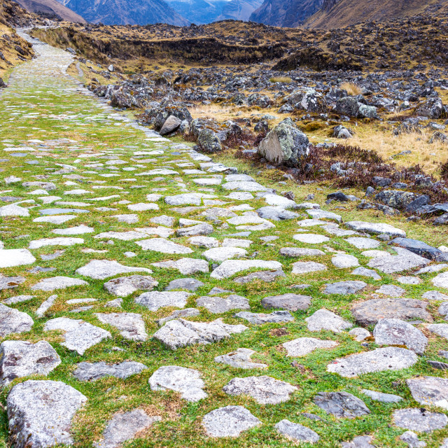 """Paved Incan Road"" stock image"