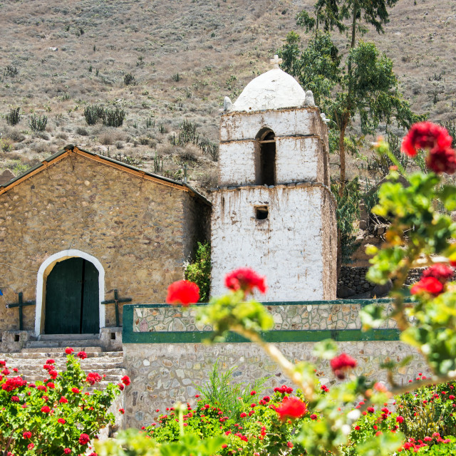 """Colca Canyon Church"" stock image"