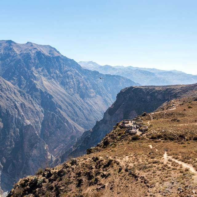 """Colca Canyon Viewpoint"" stock image"