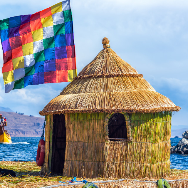 """""""Whiphala Flag on Floating Island"""" stock image"""