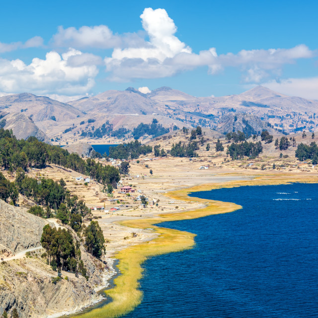 """Dramatic Lake Titicaca Landscape"" stock image"