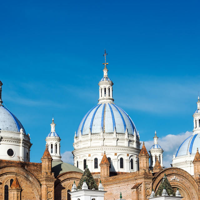 """""""Cuenca Cathedral Domes"""" stock image"""