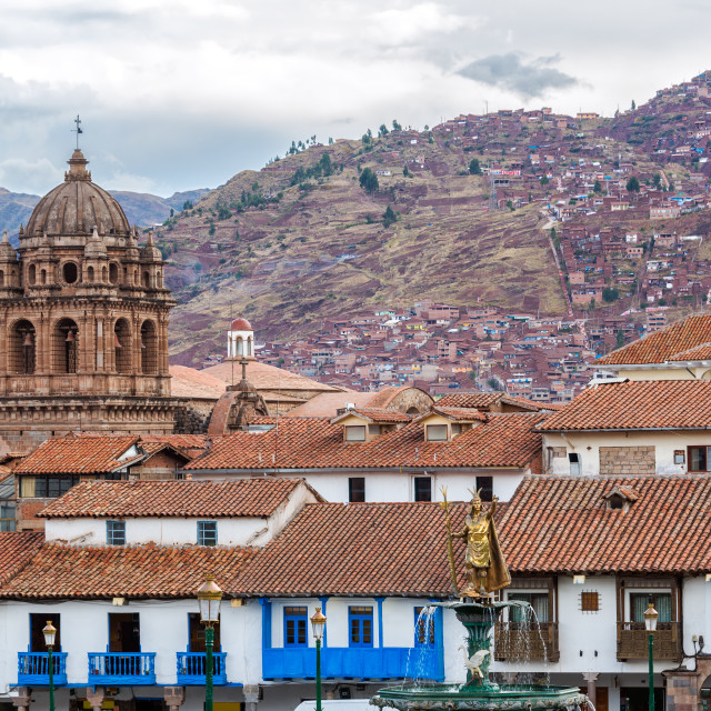 """View of Central Cuzco, Peru"" stock image"