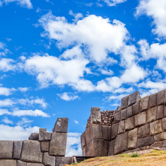 """""""Sacsayhuaman Ruins"""" stock image"""
