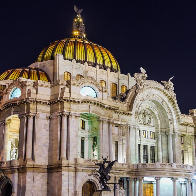 """""""Palacio de Bellas Artes at Night"""" stock image"""