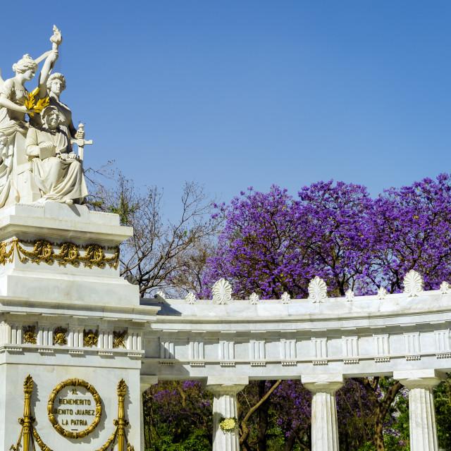 """Benito Juarez Monument"" stock image"