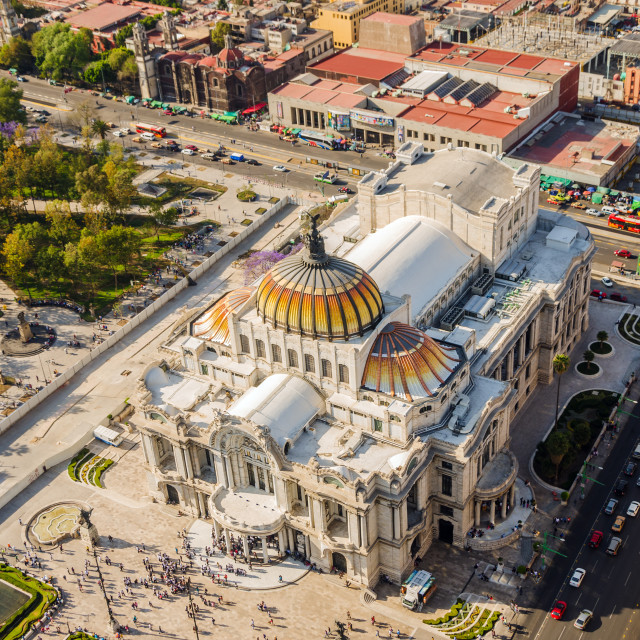 """Mexico City Fine Arts Museum"" stock image"