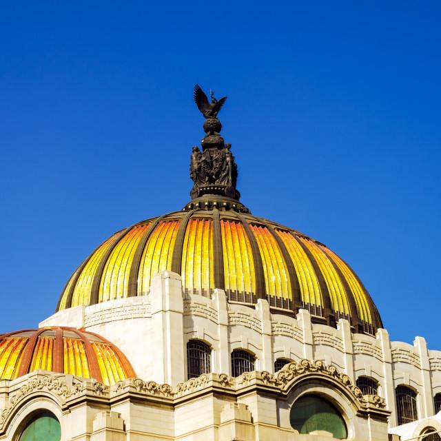 """""""Dome of Palacio de las Bellas Artes"""" stock image"""